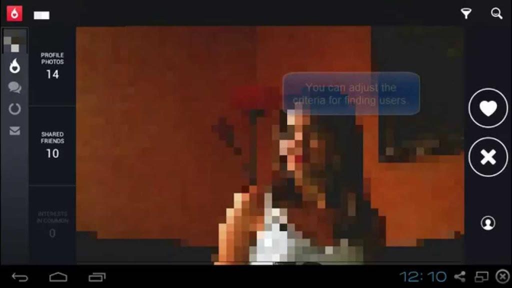 Hot or Notの画面に映る外国人女性