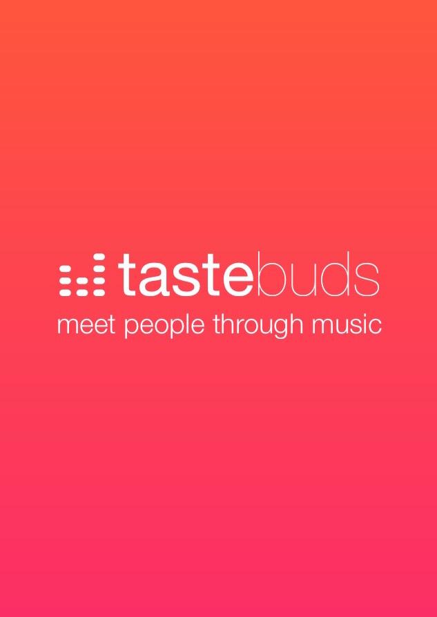 Tastebudsのアプリのトップ画面
